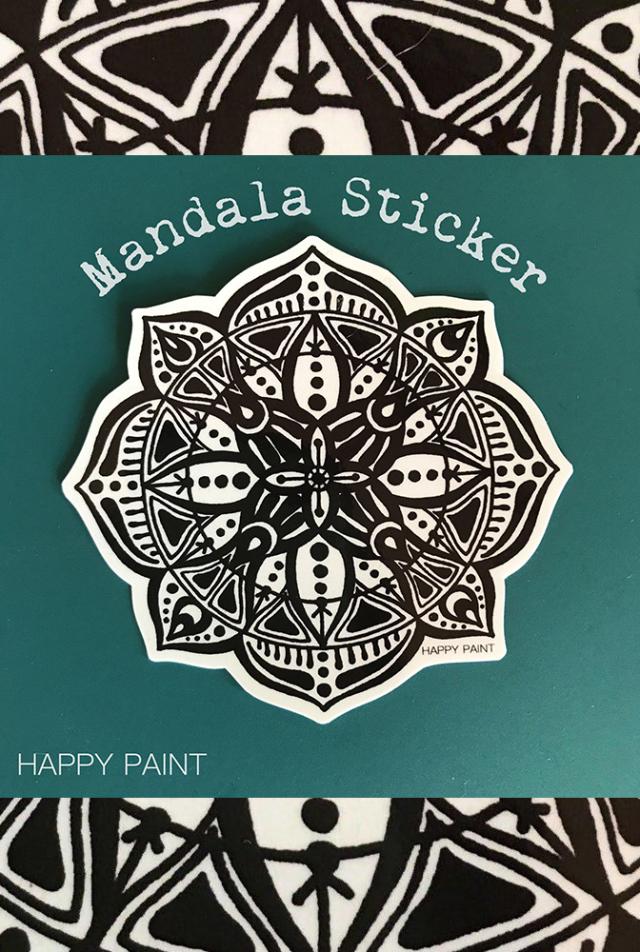 【HAPPY PAINT】Mandala ステッカー  ※割引クーポン、セール対象外商品