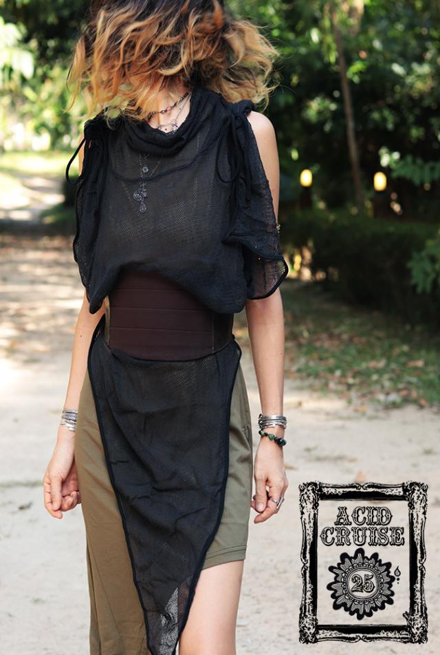 【Acid Cruise】Nocturnality synthetic leather high waist belt【2カラー*ブラウン/ブラック】S-M M-Lサイズ
