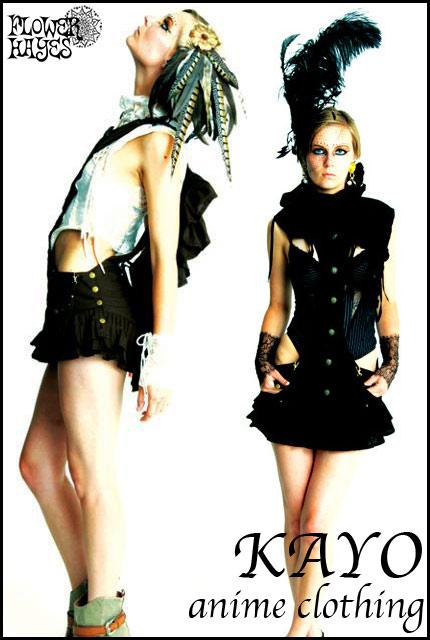 KAYO-Anime Clothing【Suspender skirt/サスペンダースカート】color*BLACK*海外XSサイズ 日本S~Mサイズ