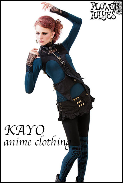 KAYO-Anime Clothing【Warrior vest/ベスト】color*BLACK*S/Mサイズ