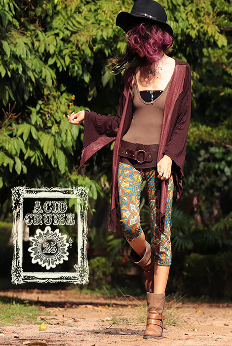 【Acid Cruise】Pixie patchwork cardigan【3カラー】フリーサイズ