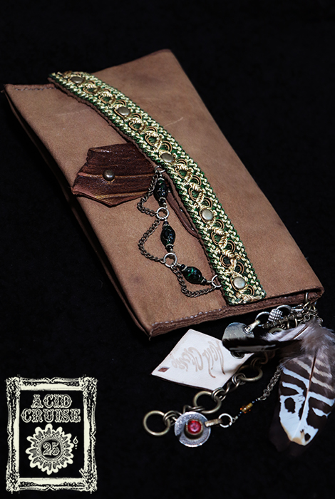 【Acid Cruise】ハンドメイド Free will leather cigarette case/巻きタバコケース/レザー巻きタバコポーチ【カラー*キャメル】野外フェス レイブ ※割引クーポン、セール対象外商品