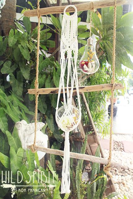 【WILD SPIRIT*KOH PHANGAN】ハンドメイド♪マクラメ編み*花瓶ホルダー【ボヘミアン ヒッピー ボホ フェス インテリア 雑貨】
