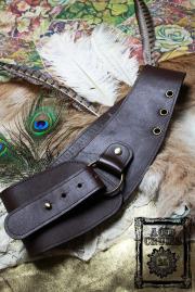送料込み★海外から発送【Acid Cruise】Nocturnality leather belt/One ring【カラー*ダークブラウン】S Mサイズ (商品到着まで1-2週間)