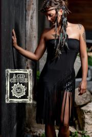 【Acid Cruise】Droplet skirt【3カラー*ブラック/ナチュラルブラウン/タイダイ】フリーサイズ