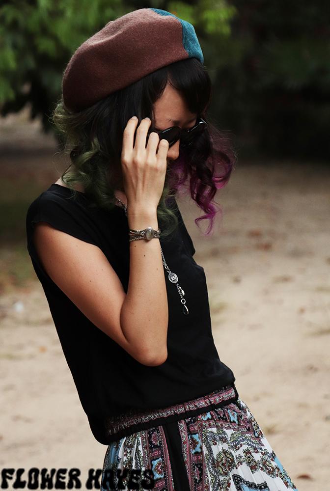mix素材♪パッチワークベレー帽