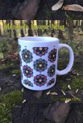 【HAPPY PAINT】Mandala flower mug  ※割引クーポン、セール対象外商品