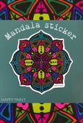 【HAPPY PAINT】Mandala ステッカー(カラー)  ※割引クーポン、セール対象外商品