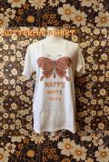 【HAPPY PAINT】Butterfly T-shirt  ※割引クーポン、セール対象外商品