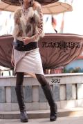 オーガニックコットン×スパンデックス*メヘンディー花プリント♪レイヤードデザインスカート【カラー*ベージュ×クリーム】S-Mサイズ