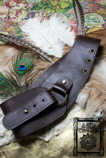【Acid Cruise】Nocturnality leather belt/One ring【カラー*チョコレート】S Mサイズ