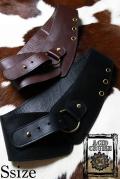 【Acid Cruise】Nocturnality leather belt/One ring【2カラー*ダークブラウン/ブラック】Sサイズ  (日本から発送商品と同梱不可、海外から発送)