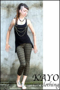 KAYO-Anime Clothing【Eclipse tribal legging/レギンス】color*BLACK*S Mサイズ