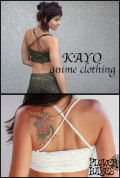 KAYO-Anime Clothing【Pyramid bra/ブラ】2color*BLACK/WHITE*S Mサイズ