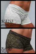 KAYO-Anime Clothing【Pyramid shorts/ショートパンツ】2color*BLACK/WHITE*S Mサイズ