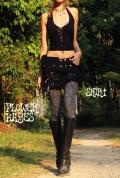 Crash×リボン*裾プリーツスカート【カラー*ブラック】 M-Lサイズ