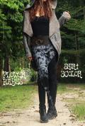 タイダイ*アシンメトリー♪ウエストリボン☆ジプシー 変形スカート/重ね着にも【3カラー*A/B/C】フリーサイズ
