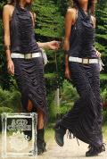 【Acid Cruise】Magic melty dress【3カラー*ブラック/ダークグレー/ブラウン】フリーサイズ