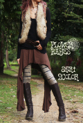 スーパーストレッチ♪サイドロング☆変形フレアスカート【2カラー*ブラック/ブラウン】フリーサイズ