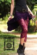 【Acid Cruise】Fairy mini skirt【5カラー*チャコールグレー/ミルクティー/ワインレッド/ブラック/パープル】M-Lサイズ