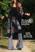 ポイント刺繍♪メッシュ ロング羽織【3デザイン*A花刺繍/Bペイズリー刺繍/C花刺繍】 フリーサイズ