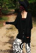 ポケット付き★袖タイトゆったりドルマンカーディガン【カラー*ブラック】フリーサイズ