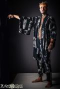【ユニセックス】タイダイ 染め★着物羽織り【3カラー*A/B/C】フリーサイズ