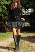 レトロ 幾何学模様♪起毛フレアミニスカート 【カラー*ターコイズ】 M-LLサイズ
