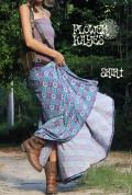 Oriental柄*スーパーストレッチ☆スーパーフレア ロングスカート【カラー*ナチュラルパープル】フリーサイズ