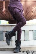オーガニックコットン×スパンデックス*ストレッチ素材♪エティーノ レギンス/レギパン【カラー*ナチュラルアッシュパープル】S Mサイズ