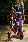 レトロポップ*サテンプリーツロングスカート【4カラー*A/B/C/D】フリーサイズ