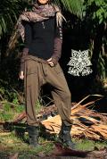 ベルト付き★スウェット 変形サルエルパンツ/ジョガーパンツ【2カラー*グレー/オリーブ】フリーサイズ ユニセックス