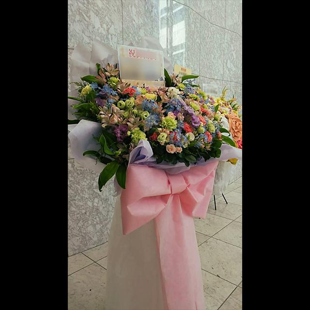 カラフル花束風スタンド花
