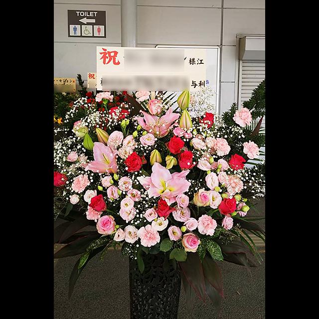 アイアンスタンド花Pink