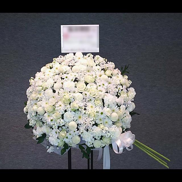 ボールブーケスタンド花 White