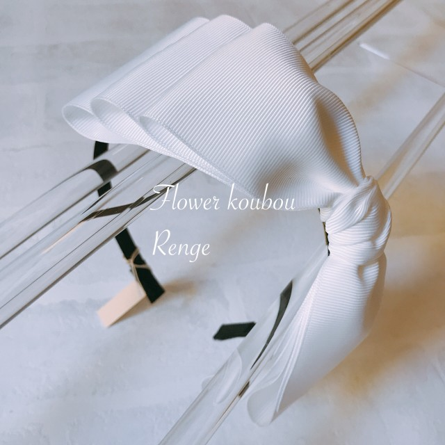 ビッググログランカチューシャ 選べる3色(紺・黒・白)  3段リボンで豪華! 発表会・入学式などに重宝します♪