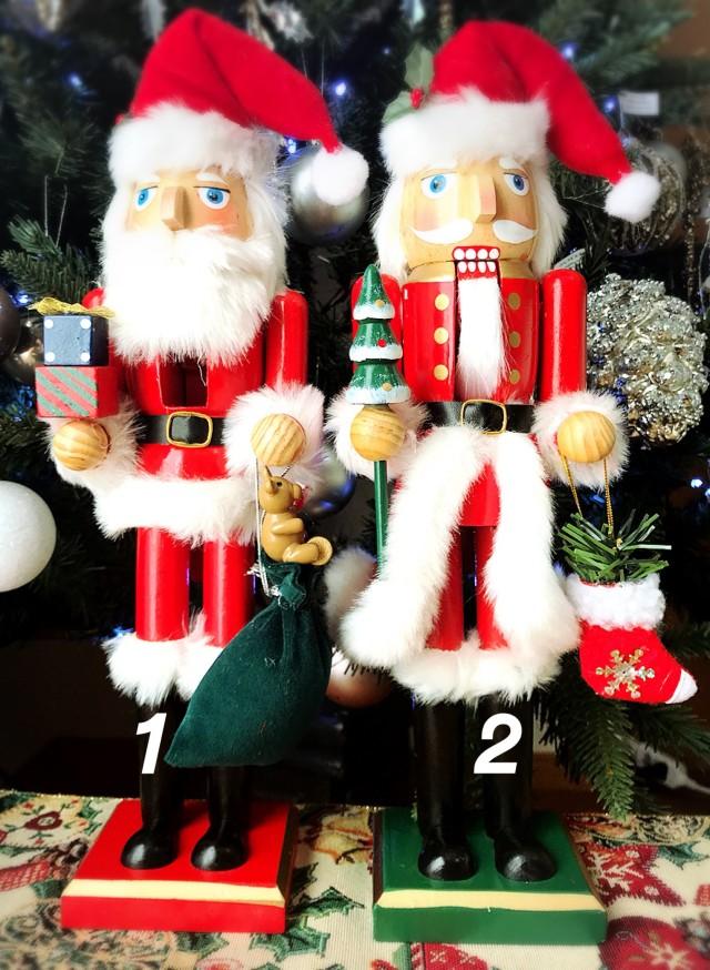 Sale!スタンディングナッツクラッカー 2種 サンタコスチューム くるみ割り人形