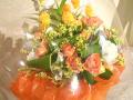 黄色オレンジ系のブーケ【3H-20112】