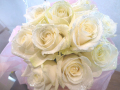 レア!!ラメ付き白バラ花束【5H-101110】