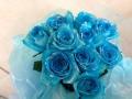 レア!!ラメ付き水色バラ花束【5H-2014】