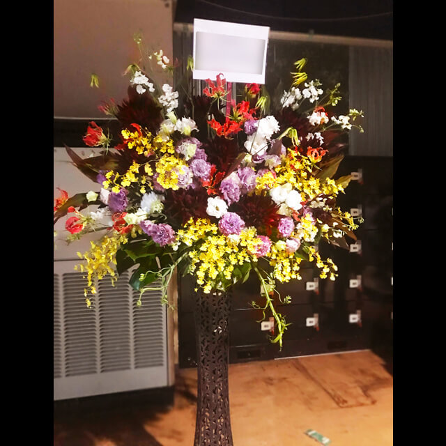 メタルスタンド花