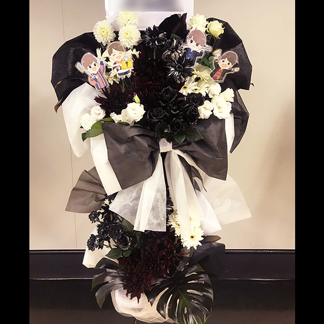 バルーンスタンド花Black&White