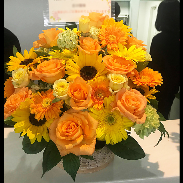 黄色オレンジ系アレンジ