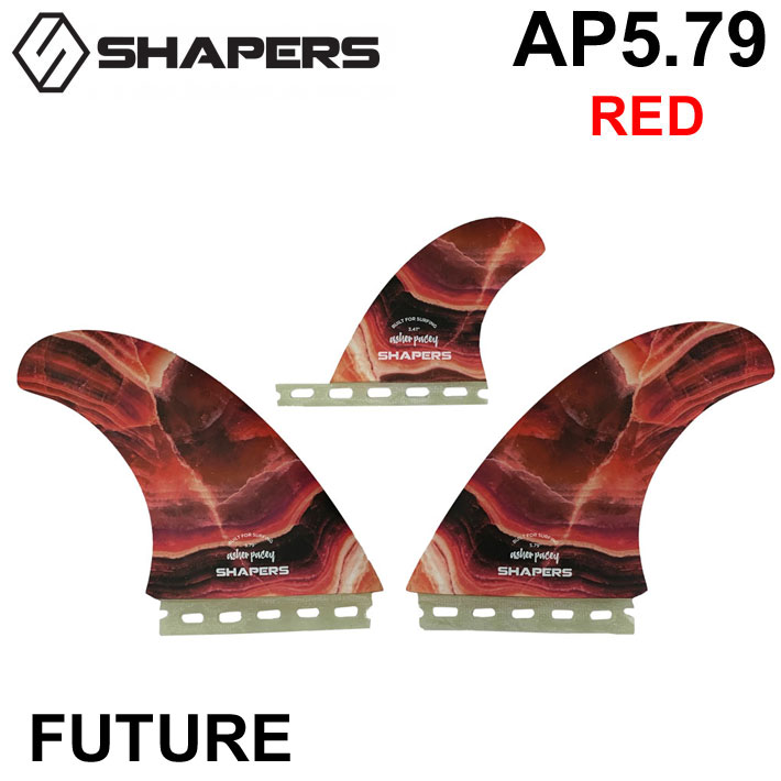 SHAPERS FIN シェイパーズフィン ASHER PACEY AP 5.79 RED 2+1 FUTURE TWIN FIN フィン