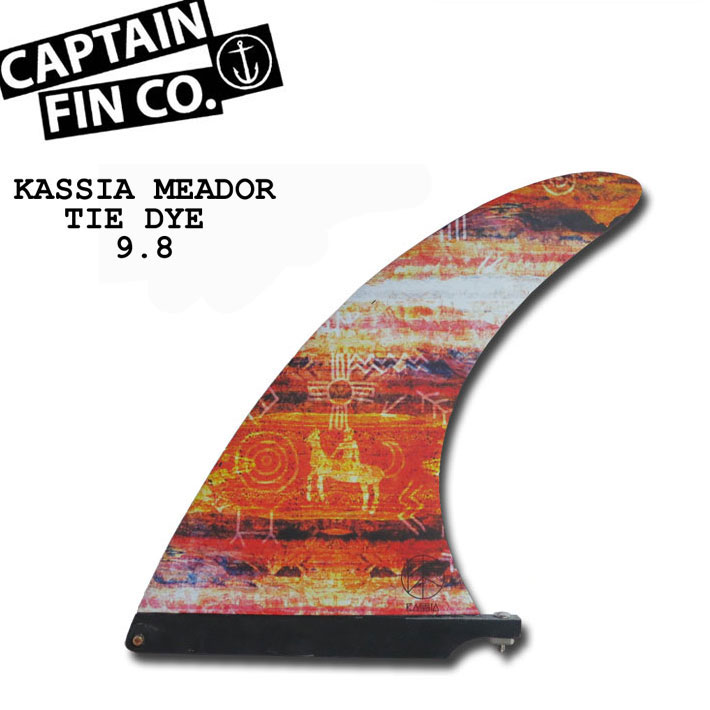 "CAPTAIN FIN キャプテンフィン (2+1FINS) KASSIA MEADOR TIE DYE 9.8"" カシア・ミーダー タイダイ ロングボード用フィン"