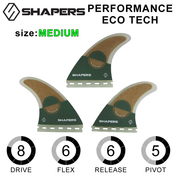 SHAPERS FIN シェイパーズフィン PERFORMANCE ECO TECH パフォーマンスエコテック MEDIUM 3FIN