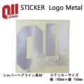 011 artistic ゼロワンワンアーティスティック ステッカー Logo Metal ロゴ メタル シルバーヘアライン素材 旧モデル