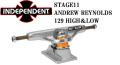 INDEPENDENT TRUCK インディペンデント トラック STAGE11 REYNOLDS GC HOLLOW SILVER 129 スケートボード トラック [7] [8]