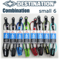 DESTINATION リーシュコード Combination Double Sweivel 6feet Small Wave スモールウェーブ用 5.5mm 12カラー
