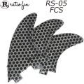 Ratio Fin レイシオフィン RS-05 W/BKドット(1) [FCS] ショートボード用トライフィン TRI FIN